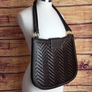 kieselstein-Cord Bags - KIeselstein-Cord Brown Woven Leather w/ Frog Bag